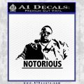 Notorious Big Full Decal Sticker Black Vinyl 120x120