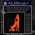 Nude Girls Silhouette Decal Sticker Orange Emblem 120x120