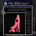 Nude Girls Silhouette Decal Sticker Pink Emblem 120x120