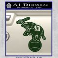 Oakland As Elephant Retro Decal Sticker Dark Green Vinyl 120x120