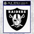 Oakland Raider Decal Sticker Shield Black Vinyl 120x120