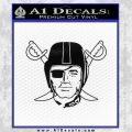 Oakland Raiders Decal Sticker D1 Black Vinyl 120x120