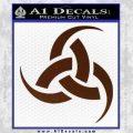 Odin Triple Horn Decal Sticker BROWN Vinyl 120x120