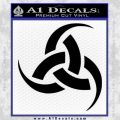 Odin Triple Horn Decal Sticker Black Vinyl 120x120