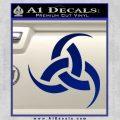 Odin Triple Horn Decal Sticker Blue Vinyl 120x120