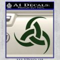 Odin Triple Horn Decal Sticker Dark Green Vinyl 120x120