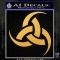 Odin Triple Horn Decal Sticker Gold Vinyl 120x120