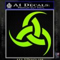 Odin Triple Horn Decal Sticker Lime Green Vinyl 120x120