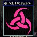 Odin Triple Horn Decal Sticker Pink Hot Vinyl 120x120