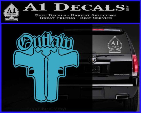 Outlaw Guns Decal Sticker Thug Life 187 A1 Decals