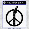 Peace Sign Music Guitar Decal Sticker Black Vinyl 120x120