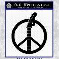 Peace Sign Music Guitar Decal Sticker Black Vinyl 120x120