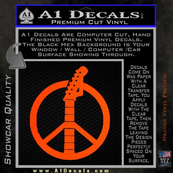 Peace Sign Music Guitar Decal Sticker A1 Decals