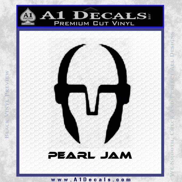 Pearl jam decal sticker d3 black vinyl