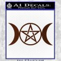 Pentacle Crescent Moons Decal Sticker BROWN Vinyl 120x120