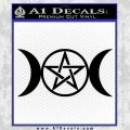 Pentacle Crescent Moons Decal Sticker Black Vinyl 120x120