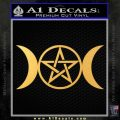 Pentacle Crescent Moons Decal Sticker Gold Vinyl 120x120