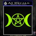 Pentacle Crescent Moons Decal Sticker Lime Green Vinyl 120x120