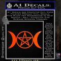 Pentacle Crescent Moons Decal Sticker Orange Emblem 120x120