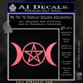 Pentacle Crescent Moons Decal Sticker Pink Emblem 120x120