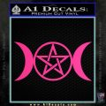 Pentacle Crescent Moons Decal Sticker Pink Hot Vinyl 120x120