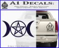 Pentacle Crescent Moons Decal Sticker PurpleEmblem Logo 120x97