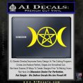 Pentacle Crescent Moons Decal Sticker Yellow Laptop 120x120