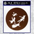 Peter Pan Kids Flying D2 Decal Sticker BROWN Vinyl 120x120