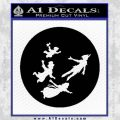 Peter Pan Kids Flying D2 Decal Sticker Black Vinyl 120x120