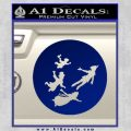 Peter Pan Kids Flying D2 Decal Sticker Blue Vinyl 120x120