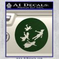 Peter Pan Kids Flying D2 Decal Sticker Dark Green Vinyl 120x120