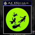 Peter Pan Kids Flying D2 Decal Sticker Lime Green Vinyl 120x120
