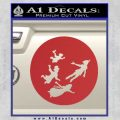 Peter Pan Kids Flying D2 Decal Sticker Red 120x120
