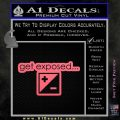 Photography Get Exposed Photographer Decal Sticker Pink Emblem 120x120