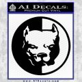 Pitbull Circle Decal Sticker Tough Black Vinyl 120x120