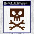 Planes Dusty Skull Wrenches Decal Sticker BROWN Vinyl 120x120