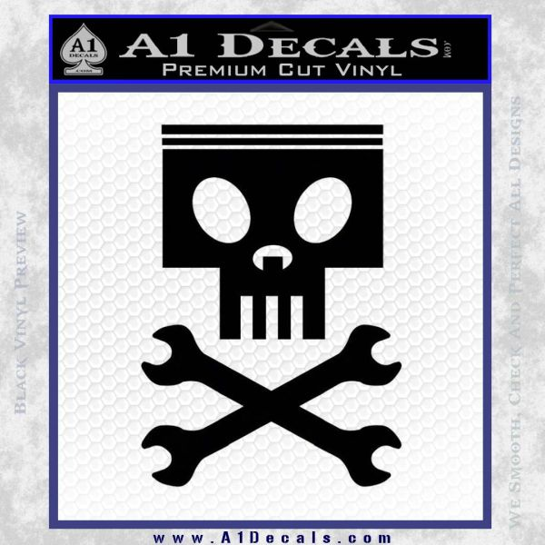 Planes Dusty Skull Wrenches Decal Sticker Black Vinyl