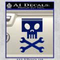 Planes Dusty Skull Wrenches Decal Sticker Blue Vinyl 120x120