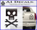 Planes Dusty Skull Wrenches Decal Sticker Carbon FIber Black Vinyl 120x97