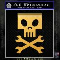 Planes Dusty Skull Wrenches Decal Sticker Gold Vinyl 120x120