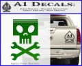 Planes Dusty Skull Wrenches Decal Sticker Green Vinyl Logo 120x97
