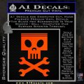 Planes Dusty Skull Wrenches Decal Sticker Orange Emblem 120x120