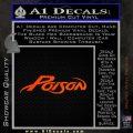Poison Band Decal Sticker Orange Emblem 120x120