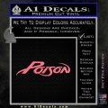 Poison Band Decal Sticker Pink Emblem 120x120