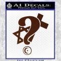 Question Religion Decal Sticker BROWN Vinyl 120x120