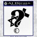 Question Religion Decal Sticker Black Vinyl 120x120