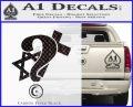 Question Religion Decal Sticker Carbon FIber Black Vinyl 120x97