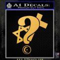 Question Religion Decal Sticker Gold Vinyl 120x120