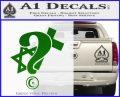 Question Religion Decal Sticker Green Vinyl Logo 120x97