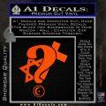 Question Religion Decal Sticker Orange Emblem 120x120